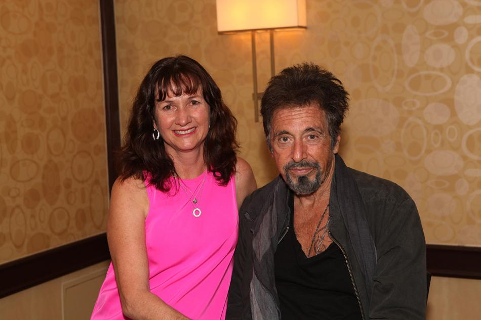 Tracy Scott and Al Pacino