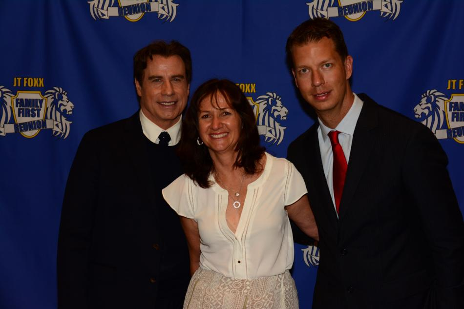 John Travolta, Tracy Scott and JT Foxx